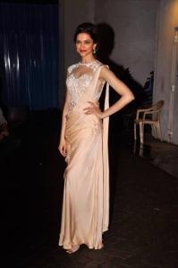 Deepika Padukone in a Sonaakshi Raaj Sari Gown