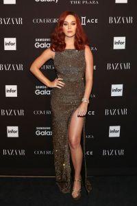 Katy Perry in saint Laurent Paris at Harper's Bazaar Icons Party
