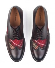 Brown Magnanni Semi Brogue Shoes